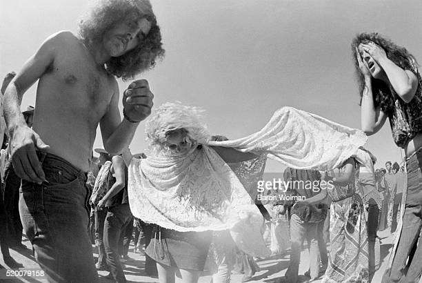 A group dancing at Northern California FolkRock Festival San JoseCA May 23 1969