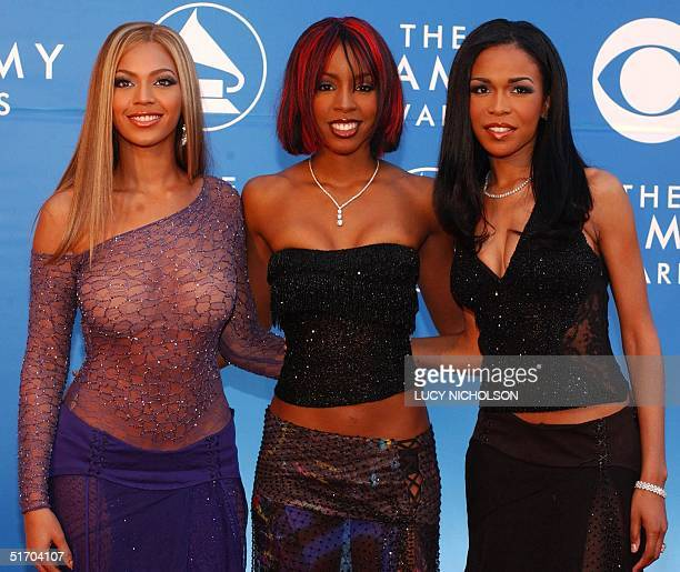 B group Destiny's Child arrives at the 44th Annual Grammy Awards in Los Angeles CA 27 February 2002 Destiny's Child is nominated for Best RB...