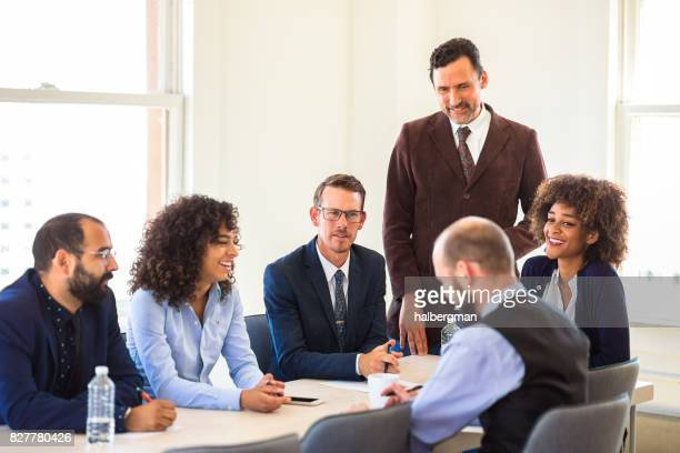 Group Discussion in Office