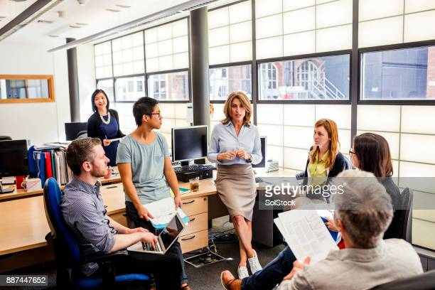 Group Discussion in the Office