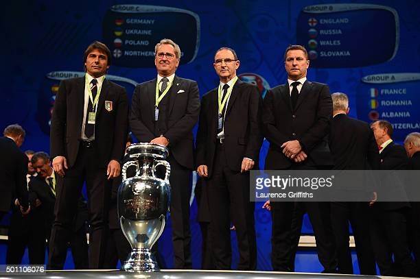 Group E managers, Antonio Conte Manager of Italy, Erik Hamren Manager of Sweden, Martin O'Neill Manager of Republic of Ireland, Vital Borkelmans...