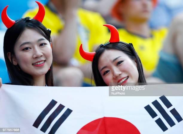 Group F Sweden v Korea Republic FIFA World Cup Russia 2018 Korea supporters at Nizhny Novgorod Stadium Russia on June 18 2018 Photo Matteo Ciambelli...