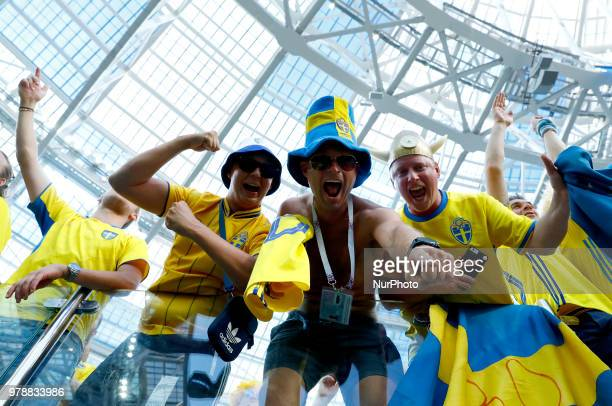 Group F Sweden v Korea Republic FIFA World Cup Russia 2018 Sweden supporters at Nizhny Novgorod Stadium Russia on June 18 2018