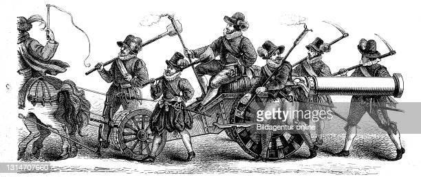 Group from piece shooting in Nuremberg, Germany popular amusement in 16th and 17th century / Gruppe vom Stückschießen in Nürnberg, Deutschland...