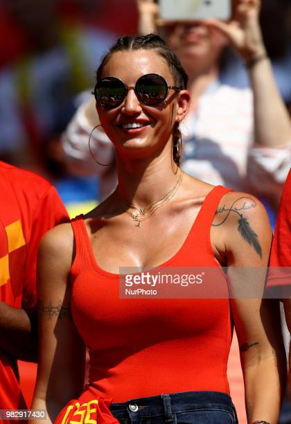 Group G Belgium v Tunisia - FIFA World Cup Russia 2018 Alex Witsel girlfriend Raffaella Szabo at Spartak Stadium in Moscow, Russia on June 23, 2018.