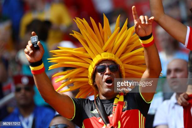 Group G Belgium v Tunisia FIFA World Cup Russia 2018 Belgium supporter at Spartak Stadium in Moscow Russia on June 23 2018