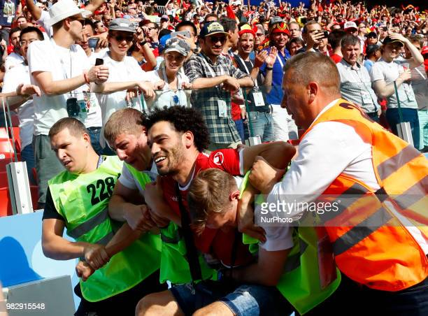 Group G Belgium v Tunisia FIFA World Cup Russia 2018 Stewart with a Tunisia supporter at Spartak Stadium in Moscow Russia on June 23 2018