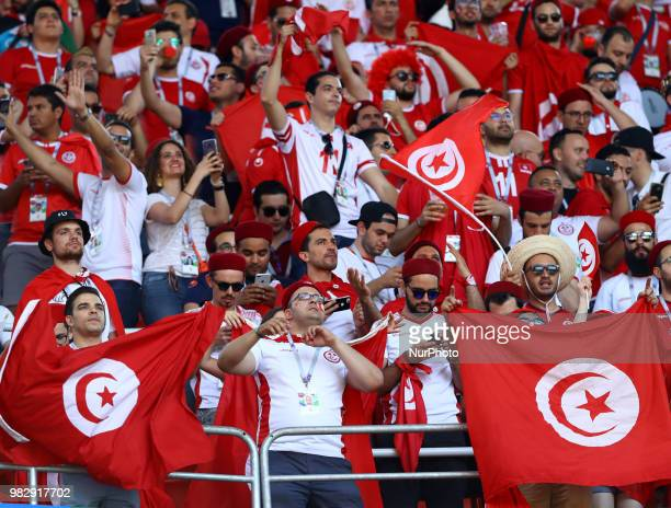 Group G Belgium v Tunisia FIFA World Cup Russia 2018 Tunisia supporters at Spartak Stadium in Moscow Russia on June 23 2018