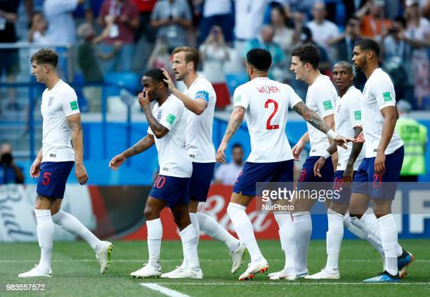 Group G England v Panama FIFA World Cup Russia 2018 Harry Kane and Raheem Sterling at Nizhny Novgorod Stadium Russia on June 24 2018
