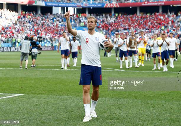 Group G England v Panama - FIFA World Cup Russia 2018 Harry Kane with the ball at the end of the match after the hat trick at Nizhny Novgorod...