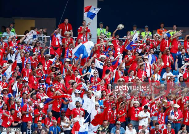 Group G England v Panama FIFA World Cup Russia 2018 Panama supporters celebrate with the the first goal of their team scored in the World Cup history...