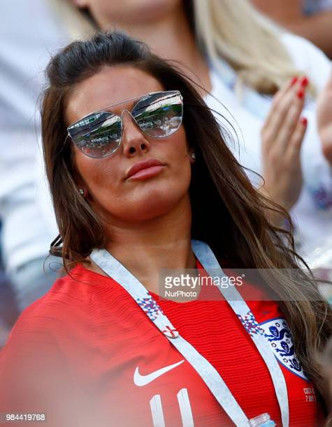 Group G England v Panama FIFA World Cup Russia 2018 Rebekah Vardy wife of England forward Jamie Vardy at Nizhny Novgorod Stadium Russia on June 24...