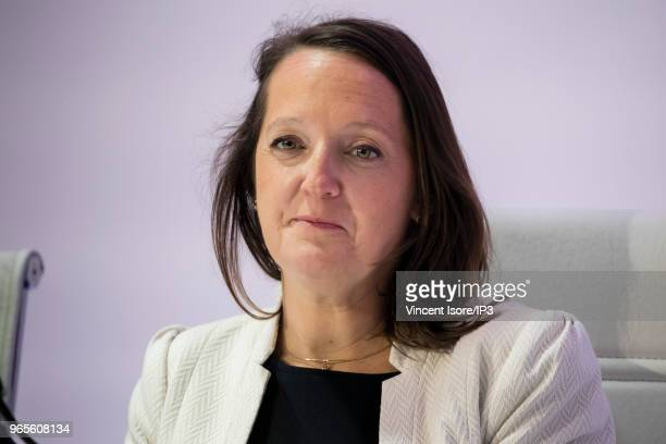 Group General Counsel and Board Secretary at Faurecia Nolwenn Delaunay attends the French auto parts maker Faurecia general shareholders meeting on...