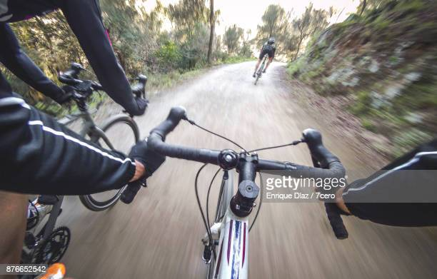 Group gravel ride in Collserola