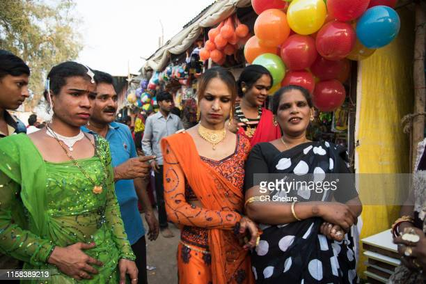 group hijra or trans-genders, india. - hijra stock pictures, royalty-free photos & images
