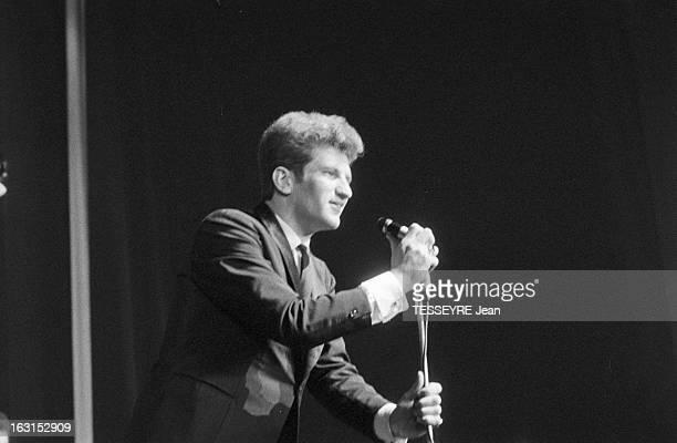 Group 'Les Chaussettes Noires'. Cretéil, Paris- 6 decembre 1962- Le groupe de rock français'Les Chaussettes noires': Claude MOINE alias Eddy MITCHELL...