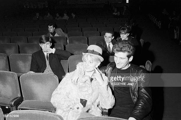Group 'Les Chaussettes Noires'. Cretéil, Paris- 6 decembre 1962- Le groupe de rock français'Les Chaussettes noires': dans une salle de concert, Eddy...