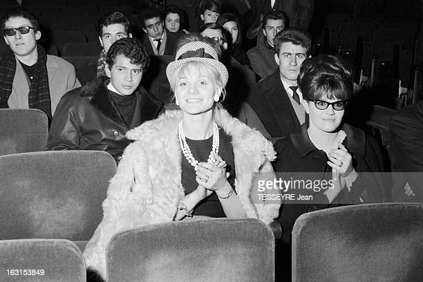 Group 'Les Chaussettes Noires'. Cretéil, Paris- 6 decembre 1962- Le groupe de rock français'Les Chaussettes noires': dans une salle de concert,...