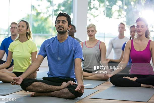 Group Meditation in a Yoga Class