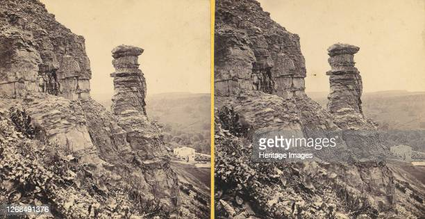Group of 11 Early Stereograph Views of British Landscapes, 1850s-1920s. [The Devil's Chimney, Leckhampton]. Artist Unknown.