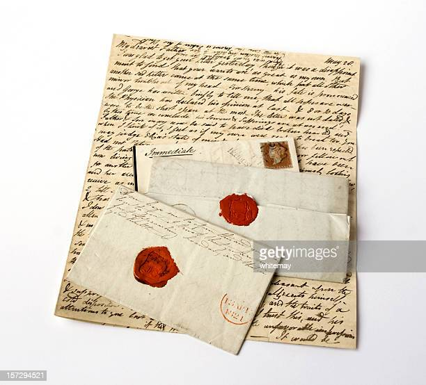 Gruppe von 19. Jahrhundert Buchstaben zu Sorgen und Krankheit, Todesfälle