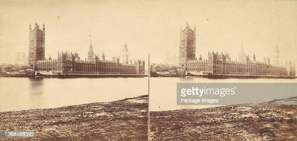 Group of 5 Stereograph Views of the Houses of Parliament, London, England, 1850s-1910s. Artist Strohmeyer & Wyman.