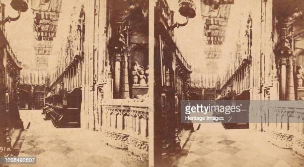 Group of 5 Stereograph Views of Westminster Abbey, London, England, 1850s-1910s. [Westminster Abbey, London]. Artist George W Griffith.
