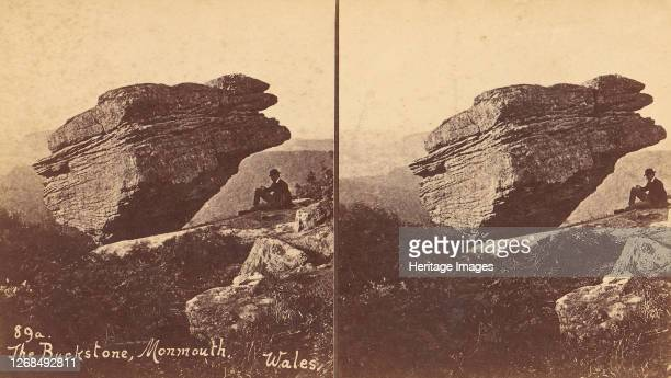 Group of 6 Stereograph Views of British Landscapes, 1850s-1910s. [The Buckstone, Monmouth, Wales]. Artist Unknown.