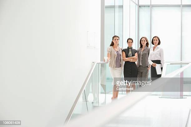 Group of a businesswomen standing side by side