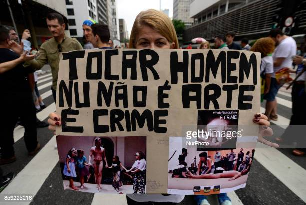 A group of activists named quotRight São Pauloquot marched on Avenida Paulista in São Paulo Brazil on 8 October 2017 They protest against The...
