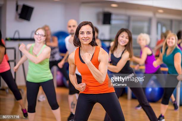 Group of Adults Doing Dance Fitness