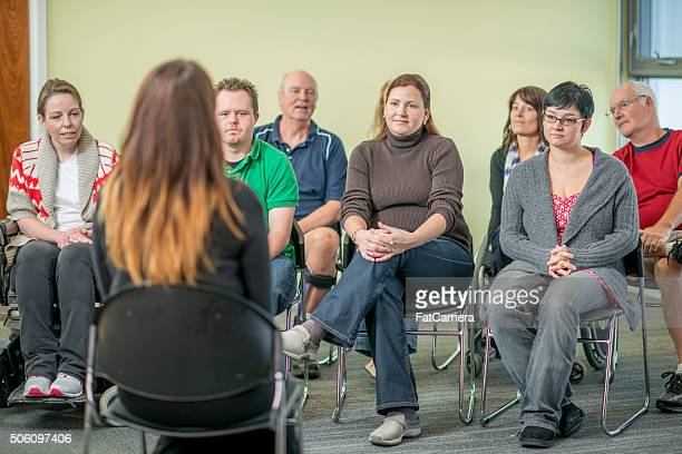 Group of Adults Participating in a Therapy Session