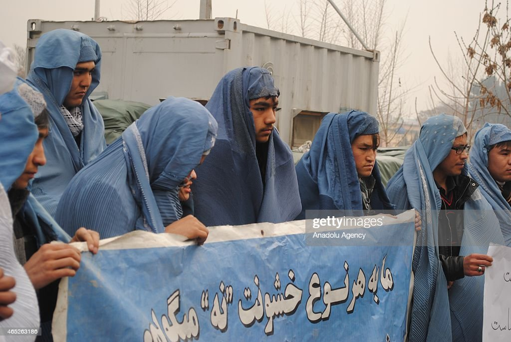 Afghan men protest violence against women : News Photo