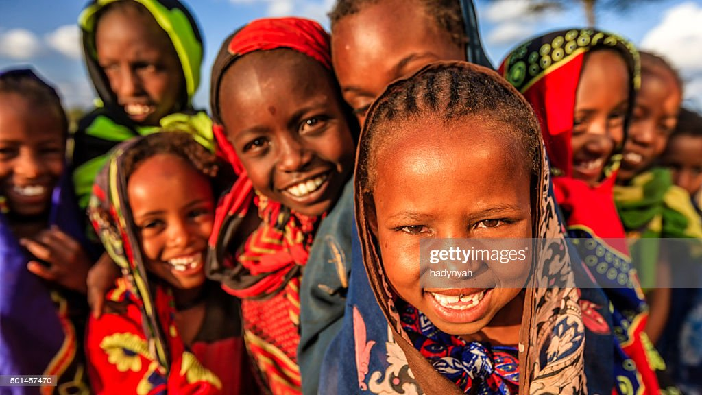 Group of African children, East Africa : Stock Photo