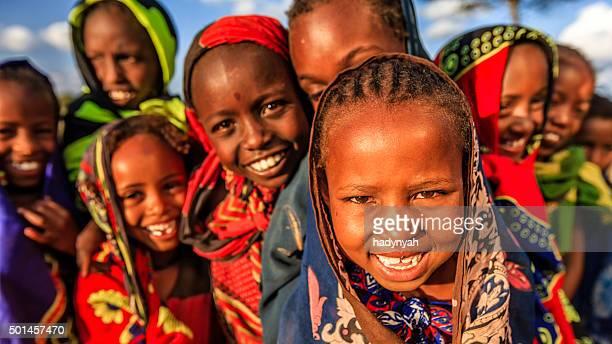 Gruppe der afrikanischen Kindern, Osten und Afrika