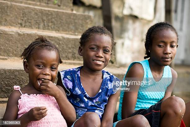 group of african girls - liberia stock pictures, royalty-free photos & images