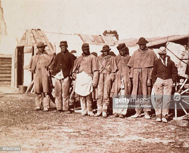 Group of AfricanAmerican Men who Escaped Slavery and Joined the Union Army Portrait 1863