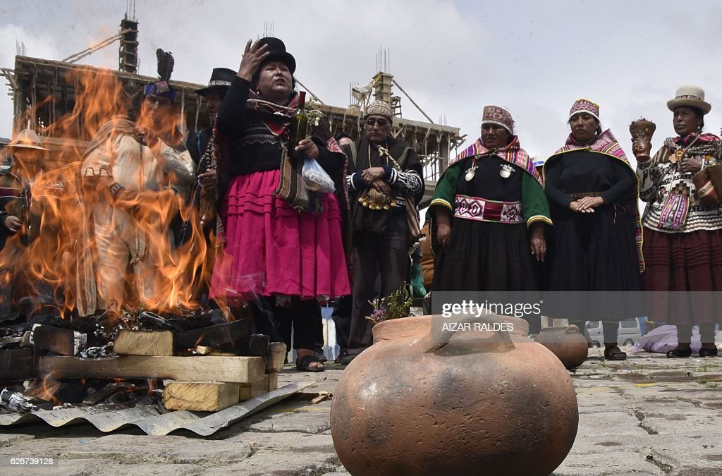 BOLIVIA-DROUGHT-RITUAL : News Photo