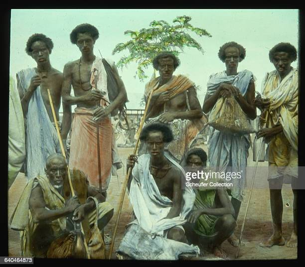 A group of animal skin dealers in Somaliland 1920s | Location Brava Italian Somaliland