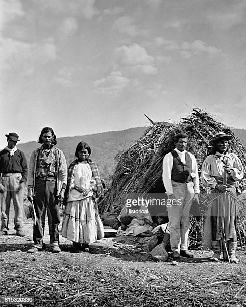A group of Apaches Near Camp Apache Arizona ca 1873 | Location Camp Apache Arizona USA