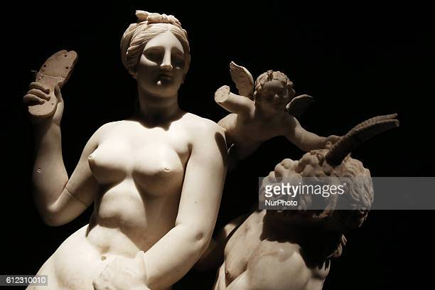 Group of Aphrodite Pan and Eros from Delos About 100 BC Opening of the exhibition quotOdysseysquot at the National Archaeological Museum of Greece in...