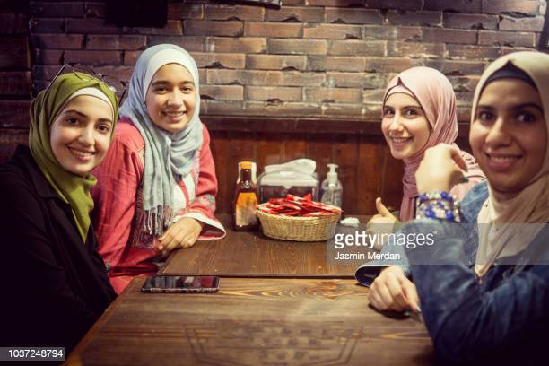 Group of Arab girls together