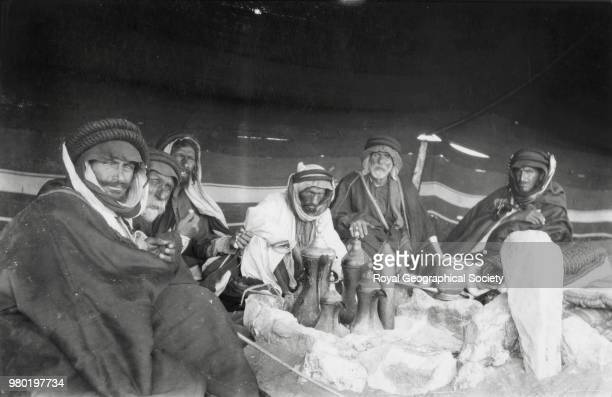 A group of Arabs inside their tent Saudi Arabia 1934