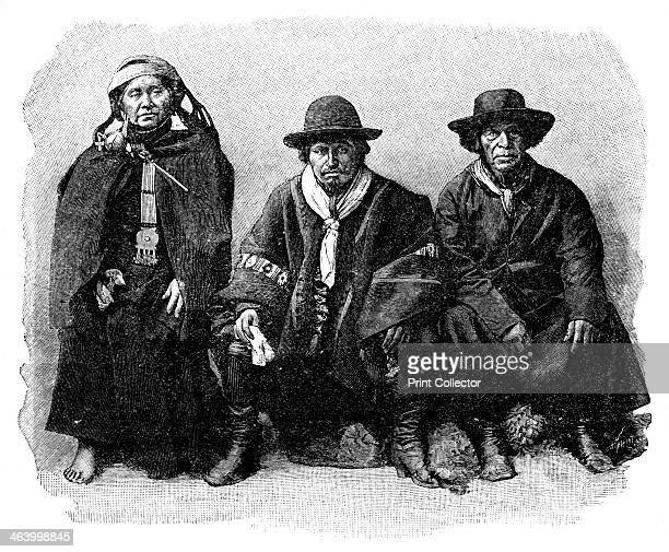 A group of Araucanians Chile/Argentina 1895 From The Universal Geography with Illustrations and Maps division XXXVI written by Elisee Reclus and...