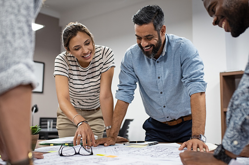 Group of architects working together 1059662394