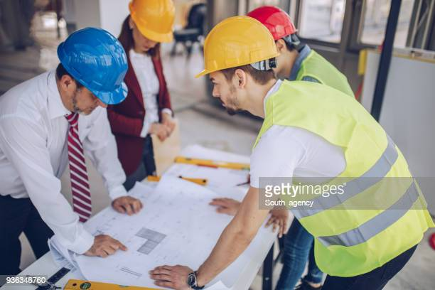 Group of architects working together