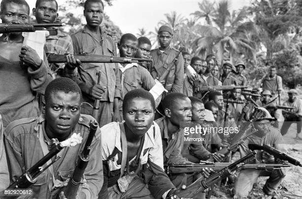 Group of armed Biafran soldiers seen here during the Biafran conflict 11th June 1968