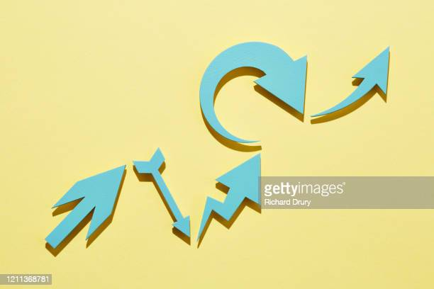 a group of arrows moving up - following moving activity stock pictures, royalty-free photos & images