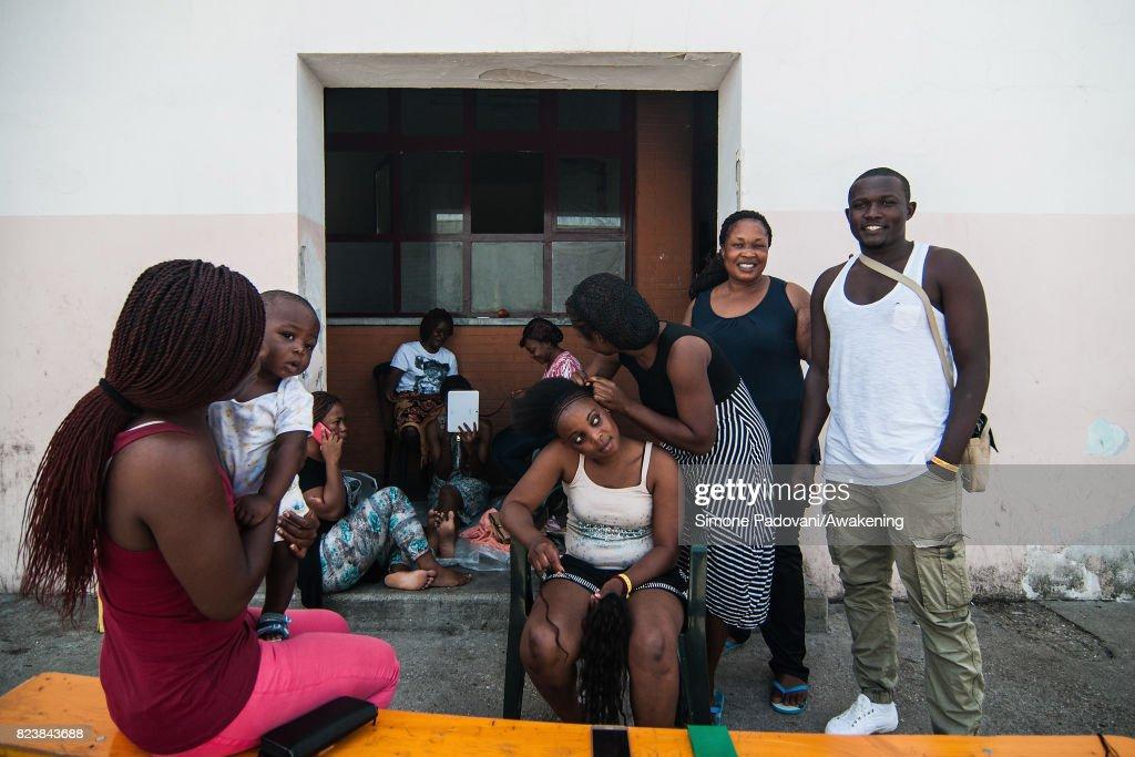 Inside An Italian Reception Centre For Asylum Seekers : News Photo