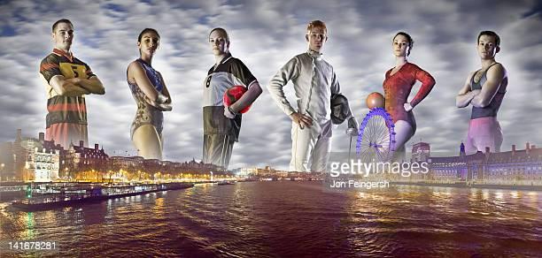 Group of Athletes on London Horizon